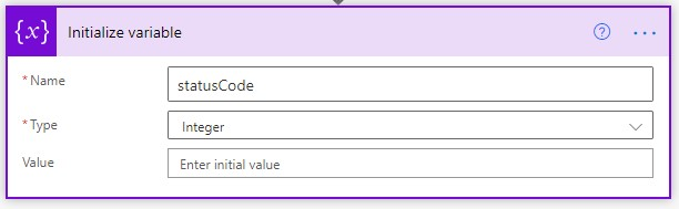 Power automate variables settings