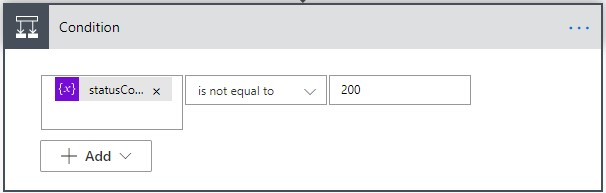 Power automate condition control settings